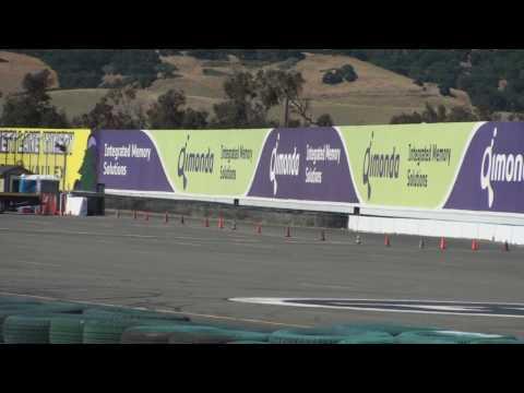 Sonoma Historics 2010 Don Stark's Lotus 23B from turn 11 at Infineon Raceway in Gp5A.wmv