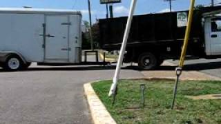 Dangerous Trailers.org presents overloaded hitch and accident waiting to happen
