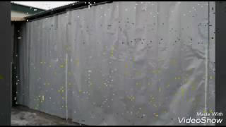 видео шторы для автомойки