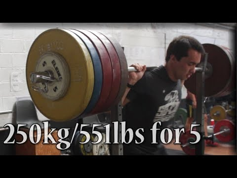250kg/551lbs ATG Pause Squat for reps - Scrap Footage Part 5