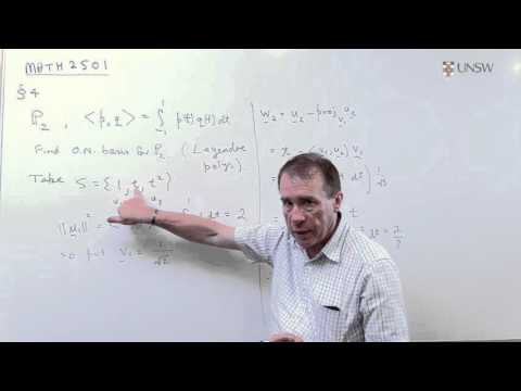 Linear Algebra 10: Construction of a Orthonormal Basis (Ch4 Pr3)