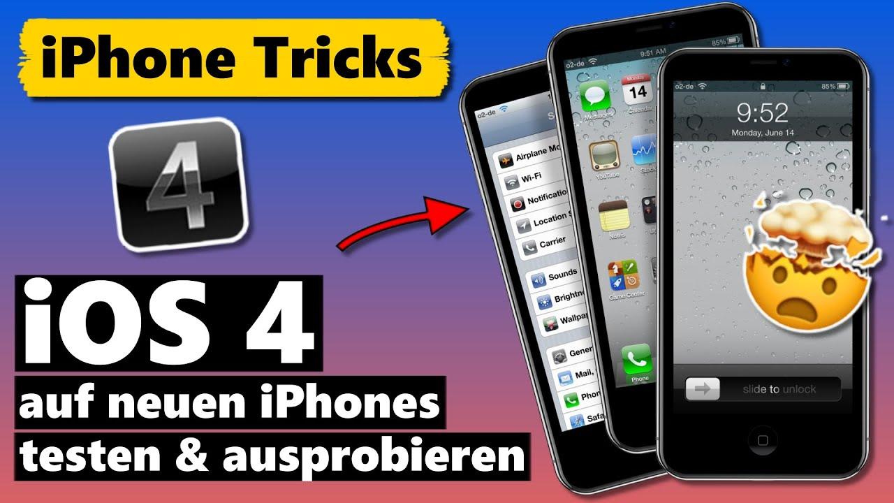 iOS 4 (❗) auf aktuellen iPhone Modellen ausprobieren 🤯 (OldOS)
