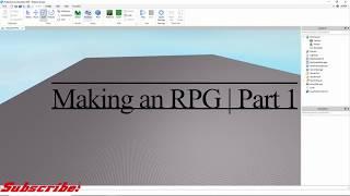 Roblox | Making an RPG part 1