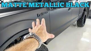 Matte Metallic Black Viฑyl Wrap 2016 Ford F-150 - Looks Brand NEW!
