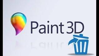 Как удалить Paint 3D и пункт «Изменить с помощью Paint 3D»