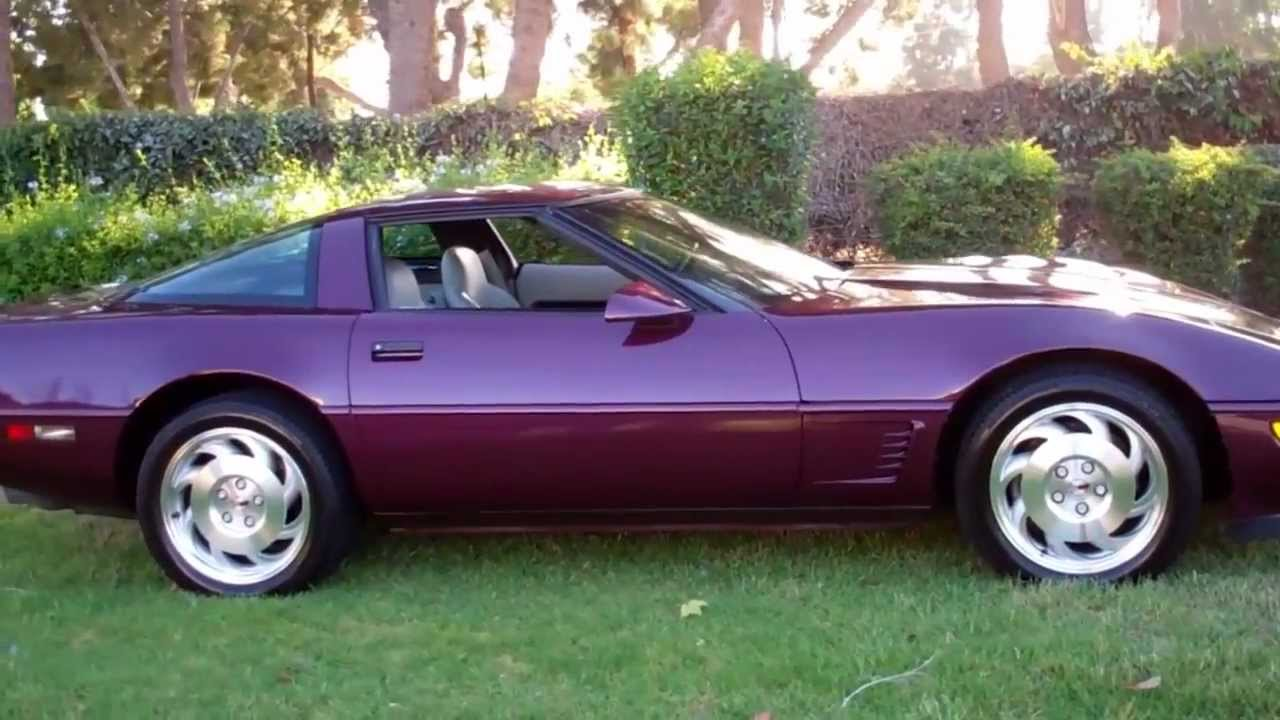 1995 Corvette For Sale >> SOLD 1995 Purple Corvette Coupe for Sale by Corvette Mike Anaheim California - YouTube