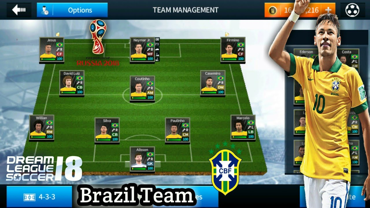 How To Create Brazil Team In Dream League Soccer 2018 Ios