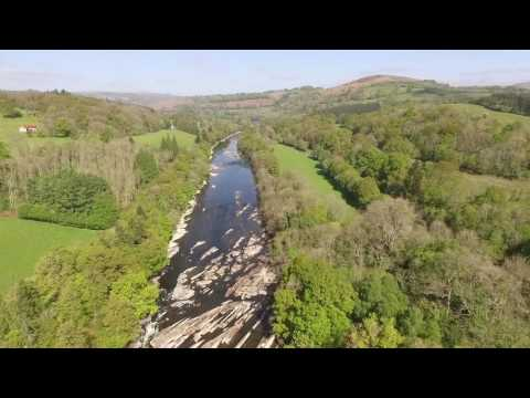 Wye River & Bridge, Wales. DJI Phantom 3, Chris quick.