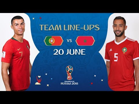 LINEUPS – Portugal v Morocco - MATCH 19 @ 2018 FIFA World Cup™