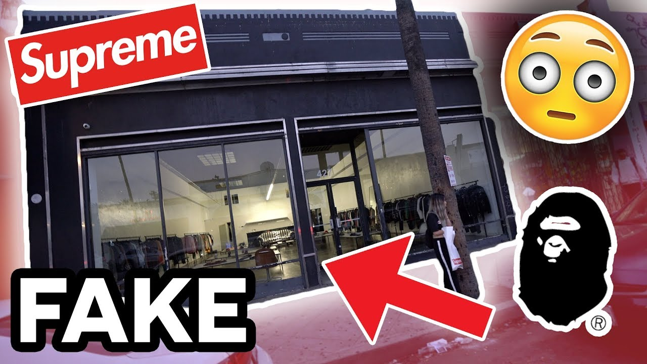 5c094438d4 STORE ON FAIRFAX EXPOSED FOR SELLING FAKE SNEAKERS AND CLOTHING! (Bape