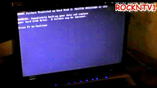 Hard drive failure imminent HP DV6000 SMART ERROR