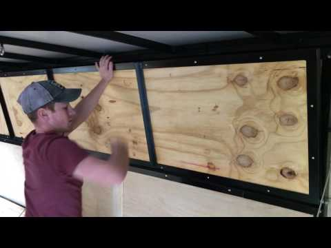Enclosed trailer shelves