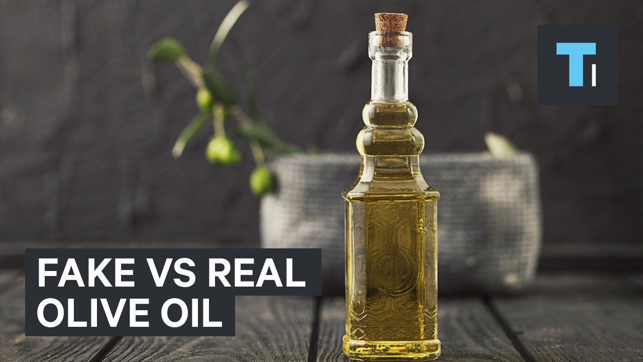 Fake vs real olive oil