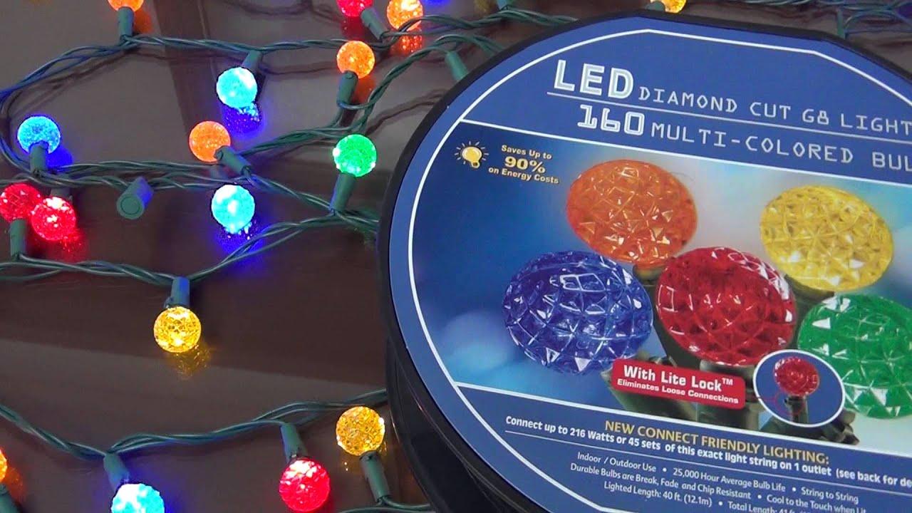 Juego de 160 luces led redondas 5 colores fijas youtube for Luces de colores