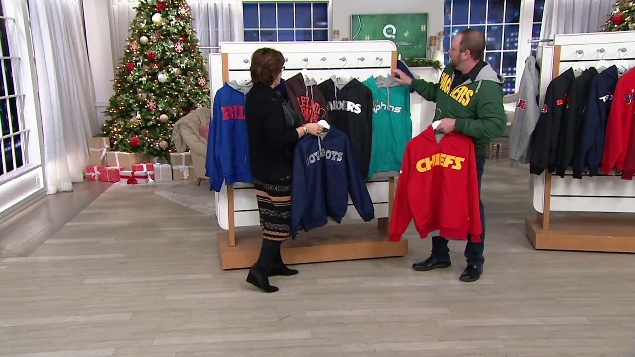 release date: cde69 89d02 NFL Reversible Hoodie and Jacket in Team Colors on QVC - YouTube