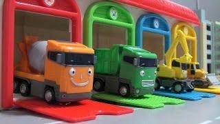 타요 중장비 장난감 차고지  Tayo The Little Bus Heavy Truck Toys