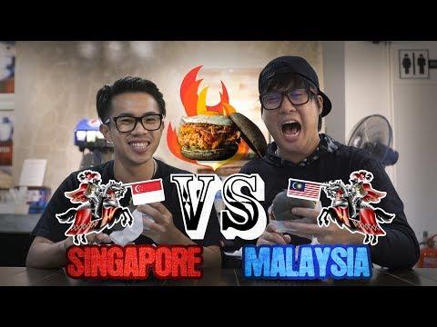 NASI LEMAK BURGER?! - Singapore VS Malaysia