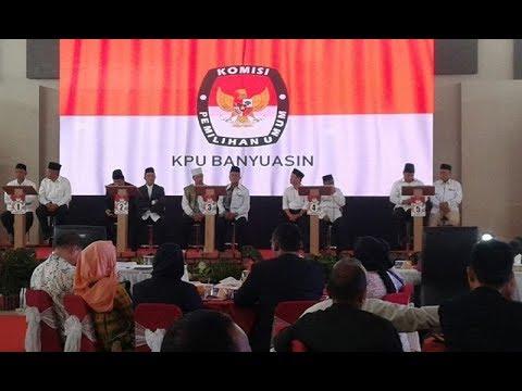 full debat calon bupati dan wakil bupati Banyuasin periode 2018   2023