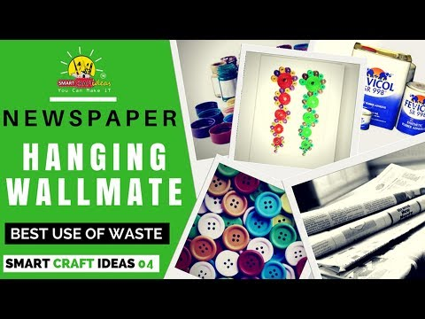 How To make Waste Newspaper's to Nice looking Wallmate|Latest craft 2018