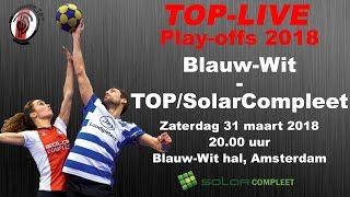 Play-off: Blauw-Wit 1 tegen TOP/SolarCompleet 1, zaterdag 31 maart 2018