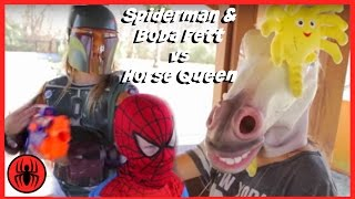 Little Heroes Spiderman, Boba Fett vs Aliens INVASION Fun Battle In Real Life comic | SuperHeroKids