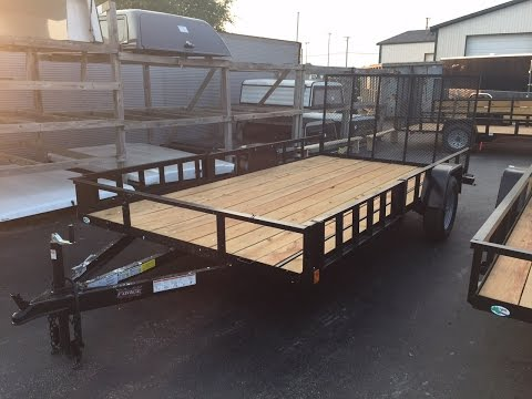 Open utility trailer 7x14 with ramp gate at Wild Bill's