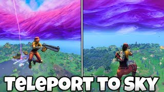 How To Teleport To The Sky in FORTNITE! GLITCH - Fortnite Season 6 Glitches PS4/Xbox One!