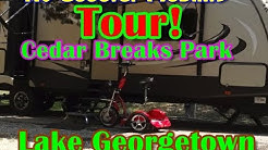 RV Scooter Mobility! Cedar Breaks Campground Tour Georgetown Texas