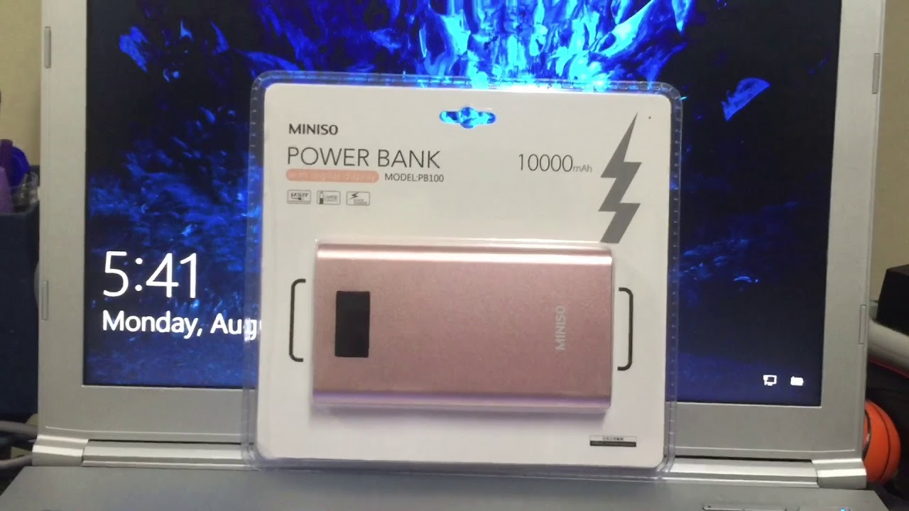 Miniso Power Bank 10000 Mah Youtube