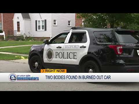 2 bodies discovered in burning car in East Cleveland