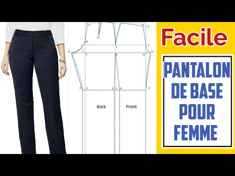PATRON DE BASE DU PANTALON FEMME AVEC BRAGUETTE // COMMENT TRACER LE PATRON FACILEMENT// PRETTY IRO