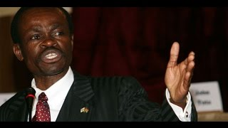 Patrice Loch Otieno Lumumba speaks to AGRA staff and partners in Nairobi.