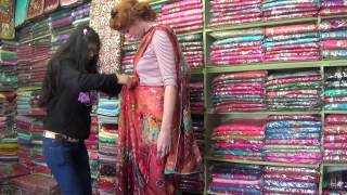 Sari shopping in Kathmandu