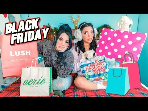 Black Friday Haul 2019! Niki and Gabi