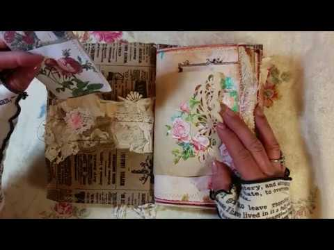 Vintage Bag Junk Journal, Mother's Day Theme and More!