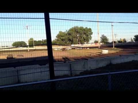 IMCA Hobby Stock heat at Redwood Speedway