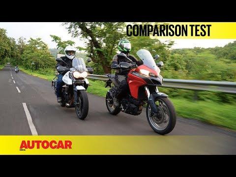 Ducati Multistrada 950 vs Triumph Tiger XRx | Comparison Test | Autocar India