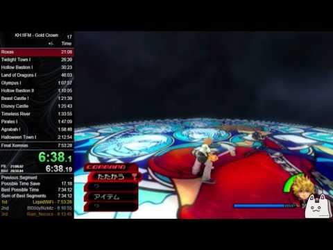 Kingdom Hearts II Final Mix Critical Gold Crown Speedrun 7:45:07