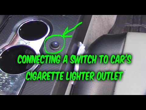 How to install  wire 3 prong Switch to car 12v power outlet