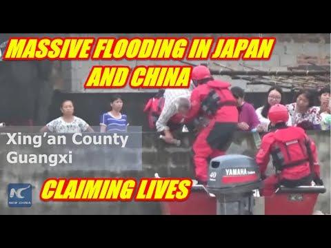 SEVERE FLOODING SMASHING THROUGH JAPAN AND CHINA JULY 6TH 2017