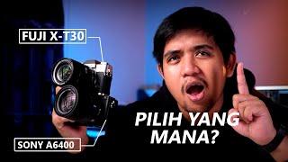 KAMERA MIRRORLESS MANA YANG TERBAIK ?!?!? | Fujifilm X-T30 Vs Sony a6400