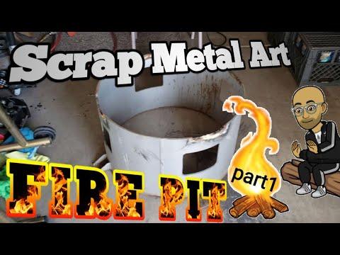Scrap Metal Art Fire Pit part1
