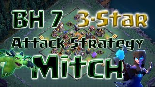 Clash of Clans - BH7 3-star attack strategy Mitch (Minions & Witches)
