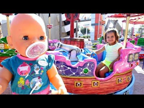 Кукла #БебиБон и Маша #МиниМи в Парке Развлечений! 🎠 Аттракционы 🎡 Развлечения и Игры для Детей