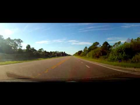 Driving on State Road 29 from Immokalee, FL to Everglades City, Florida