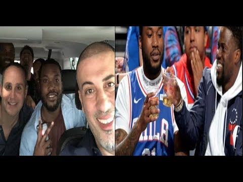 76ers Owner picks up Meek Mill In A helicopter After his release from Prison...#sideeye