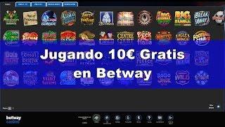 Jugando 10€ Gratis en el casino de Betway