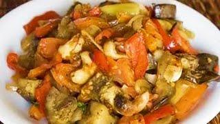 Домашние видео рецепты -  овощное рагу с фаршем в мультиварке