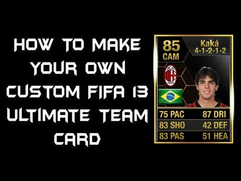 how to make your own custom fifa 13 ultimate team card youtube. Black Bedroom Furniture Sets. Home Design Ideas