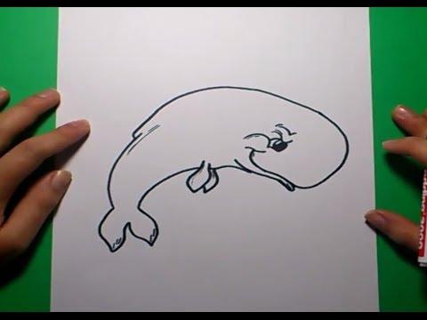 Como dibujar una ballena paso a paso 3 | How to draw a ...